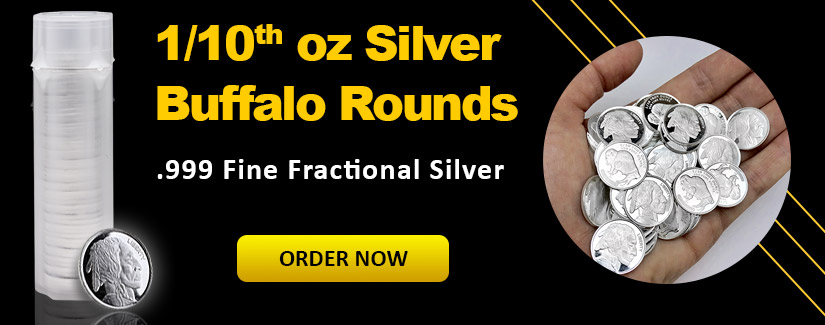 NEW 1/10th oz Silver Buffalo Rounds