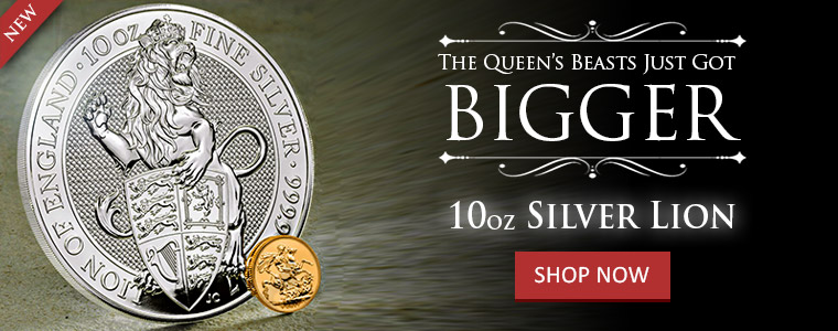 10 oz Silver Lion Queen's Beast Bullion Coin In Stock