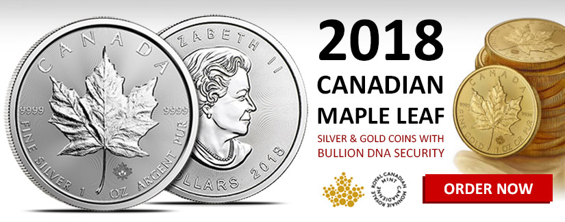 NEW 2018 Gold & Silver Canadian Maple Leaf Coins