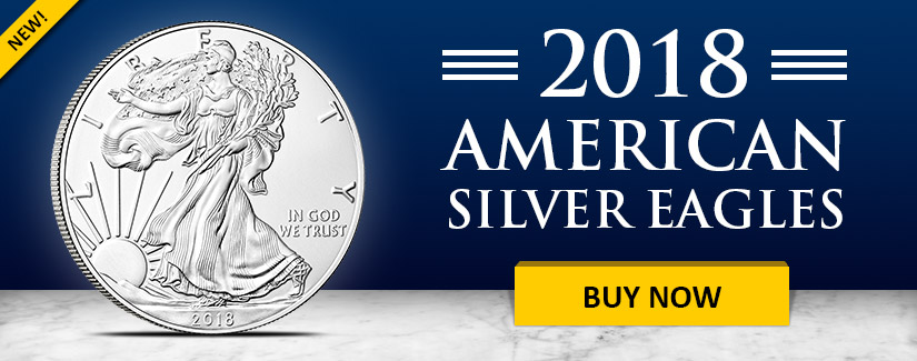 NEW 2018 American Silver Eagle Coins
