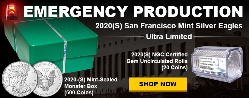 2020 San Francisco Mint Silver Eagles Emergency Production