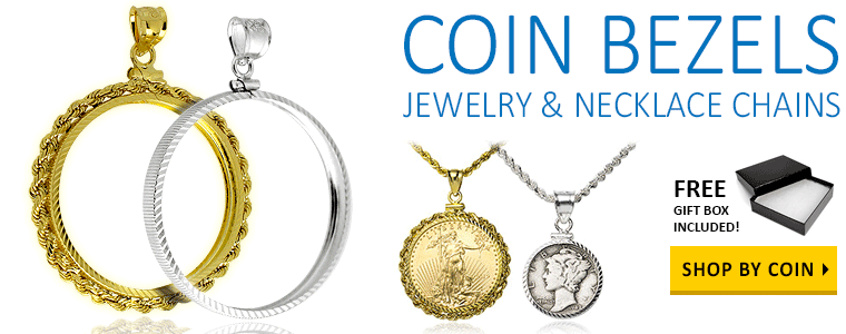 Gold & Silver Coin Bezels, Chains and Coin Jewelry