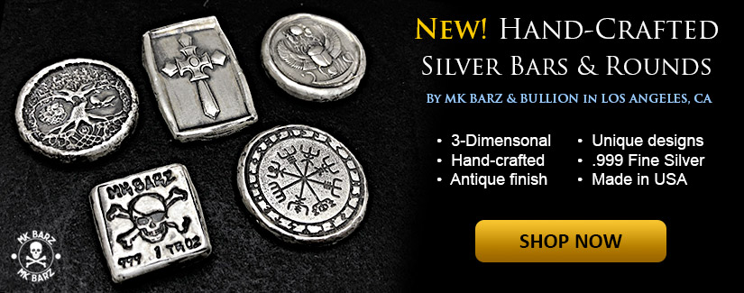 NEW 1 oz Silver Hand-Crafted Silver by MK BarZ and Bullion - Shop Now