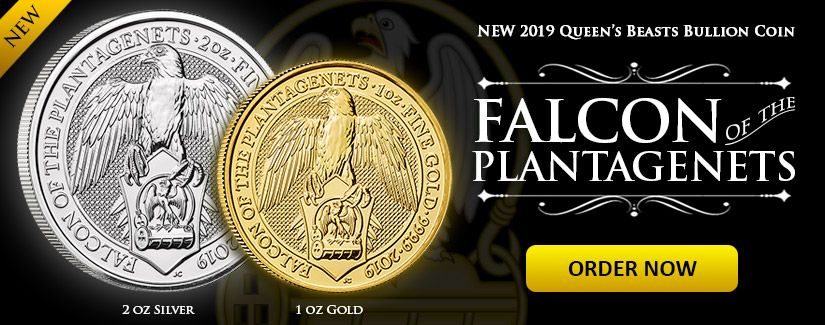 NEW Queen's Beast Coins - Falcon of the Plantagenets