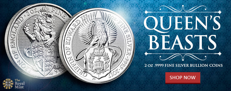 NEW Queen's Beasts 2 oz Silver Bullion Coins