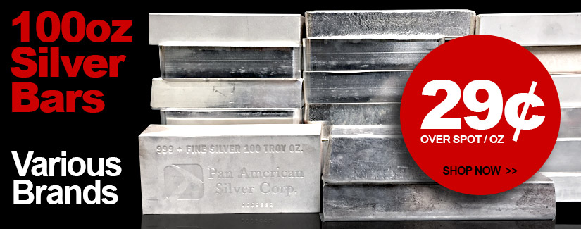 100 oz Silver Bars On Sale Now