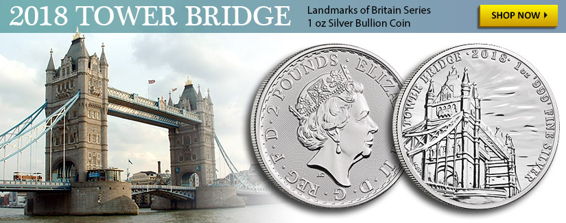 NEW 1 oz Silver Tower Bridge Landmarks of Britain Coin - Shop Now