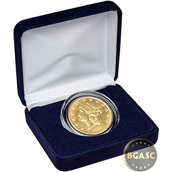 Gold $20 Liberty Double Eagle Coin (Jewelry Grade) in Velvet Gift Box