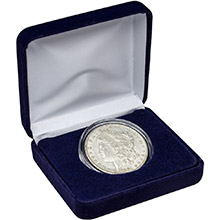 Morgan Silver Dollar (Fine - Extra Fine) Coin in Velvet Gift Box