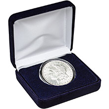 Morgan Silver Dollar (Uncirculated) Coin in Velvet Gift Box