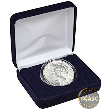 Peace Silver Dollar (Uncirculated) Coin in Velvet Gift Box