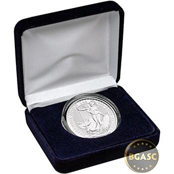 1 oz Silver Britannia Brilliant Uncirculated Bullion Coin in Velvet Gift Box