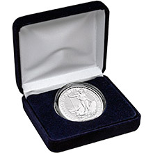 2021 1 oz Silver Britannia Brilliant Uncirculated Bullion Coin in Velvet Gift Box