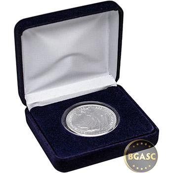 1 oz Silver Britannia Brilliant Uncirculated Bullion Coin in Velvet Gift Box - Image