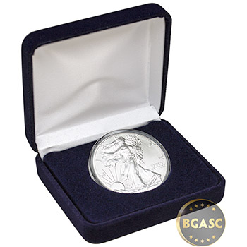 1 oz Silver American Eagle Brilliant Uncirculated Bullion Coin in Velvet Gift Box