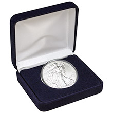 2021 1 oz Silver American Eagle Brilliant Uncirculated Bullion Coin in Velvet Gift Box