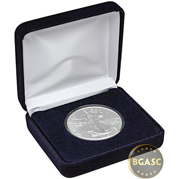 1 oz Silver American Eagle Brilliant Uncirculated Bullion Coin in Velvet Gift Box - Image