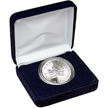 1 oz Silver Canadian Maple Leaf Brilliant Uncirculated Bullion Coin in Velvet Gift Box