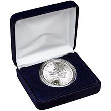 2021 1 oz Silver Canadian Maple Leaf Brilliant Uncirculated Bullion Coin in Velvet Gift Box