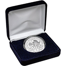 1 oz Silver Austrian Philharmonic Brilliant Uncirculated Bullion Coin in Velvet Gift Box