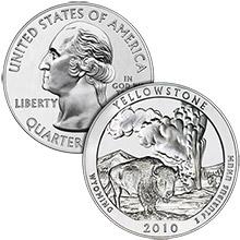 2010 Yellowstone - 5 oz Silver America The Beautiful in Air-Tite Capsule .999 Silver Bullion Coin