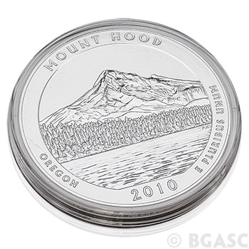 2010 Mount Hood - 5 oz Silver America The Beautiful in Air-Tite Capsule .999 Silver Bullion - Image