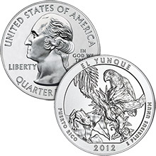 2012 El Yunque - 5 oz Silver America The Beautiful in Air-Tite Capsule .999 Silver Bullion Coin