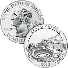 2012 Chaco Culture - 5 oz Silver America The Beautiful in Capsule .999 Silver Bullion Coin