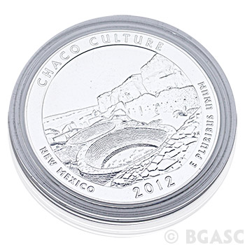 2012 RAW Chaco Culture - 5oz Silver America The Beautiful 5oz Silver Quarter .999 Silver - Image