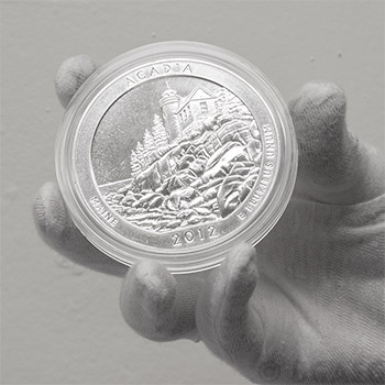 2012 RAW Acadia - 5oz Silver America The Beautiful 5oz Silver Quarter .999 Silver - Image