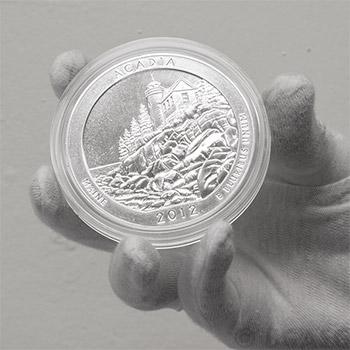 2012 RAW Acadia - 5oz Silver America The Beautiful 5oz Silver Quarter .999 Silver - Image