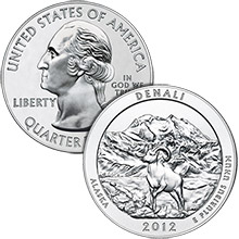 2012 Denali - 5 oz Silver America The Beautiful in Capsule .999 Silver Bullion Coin