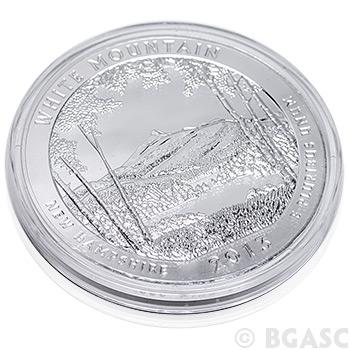 2013 White Mountain 5 oz Silver America The Beautiful in Air-Tite Capsule .999 Silver Bullion - Image
