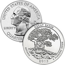 2013 Great Basin National Park 5 oz Silver America The Beautiful in Air-Tite Capsule .999 Silver Bullion Coin