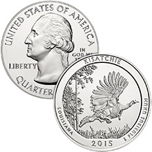 2015 Kisatchie 5 oz Silver America The Beautiful .999 Fine Bullion Coin in Air-Tite Capsule