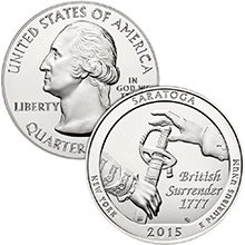 2015 Saratoga 5 oz Silver America The Beautiful .999 Fine Bullion Coin in Air-Tite Capsule
