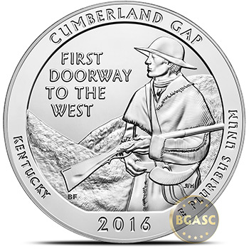 2016 Cumberland Gap 5 oz Silver America The Beautiful .999 Fine Bullion Coin in Air-Tite Capsule