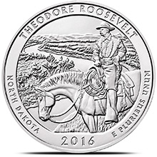 2016 Theodore Roosevelt 5 oz Silver America The Beautiful .999 Fine Bullion Coin in Air-Tite Capsule