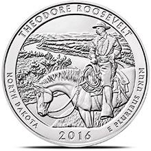 2016 Theodore Roosevelt 5 oz Silver America The Beautiful .999 Fine Bullion Coin in Air-Tite Capsule