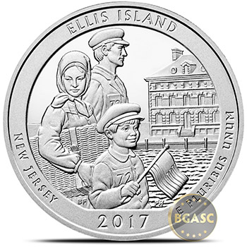 2017 Ellis Island 5 oz Silver America The Beautiful .999 Fine Bullion Coin in Capsule