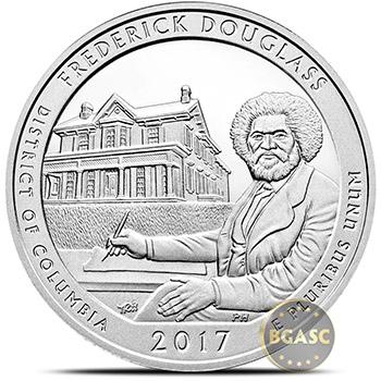 2017 Frederick Douglass Historical Site 5 oz Silver America The Beautiful .999 Fine Bullion Coin in Air-Tite Capsule