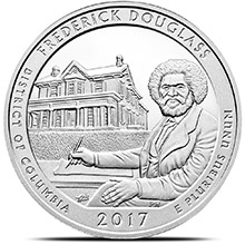 2017 Frederick Douglass Historical Site 5 oz Silver America The Beautiful .999 Fine Bullion Coin in Air-Tite Capsule