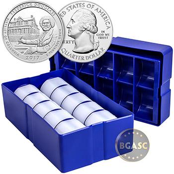 2017 Frederick Douglass 5 oz Silver America The Beautiful .999 Fine Bullion Coin in Air-Tite Capsule - Image