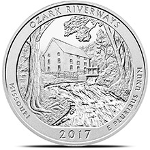 2017 Ozark Riverways 5 oz Silver America The Beautiful .999 Fine Bullion Coin in Capsule