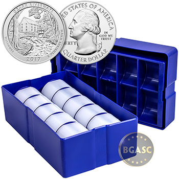 2017 Ozark Riverways 5 oz Silver America The Beautiful .999 Fine Bullion Coin in Air-Tite Capsule - Image