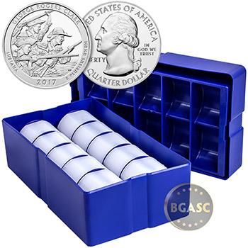 2017 George Rogers Clark 5 oz Silver America The Beautiful .999 Fine Bullion Coin in Air-Tite Capsule - Image