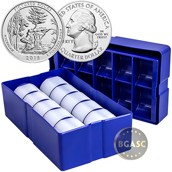 2018 Pictured Rocks Iowa 5 oz Silver America The Beautiful .999 Fine Bullion Coin - Image