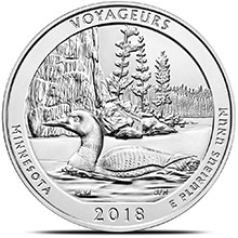 2018 Voyageurs Minnesota 5 oz Silver America The Beautiful .999 Fine Bullion Coin in Air-Tite Capsule