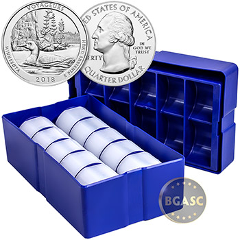 2018 Voyageurs 5 oz Silver America The Beautiful .999 Fine Bullion Coin in Air-Tite Capsule - Image