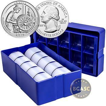 2019 Lowell Park Massachusetts 5 oz Silver America The Beautiful .999 Fine Bullion Coin - Image